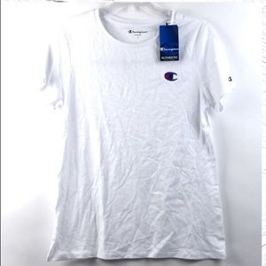 NET Champion Athletic T-Shirt White with Navy Logo